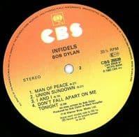 BOB DYLAN Infidels Vinyl Record LP CBS 1983